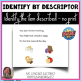 Identify by Descriptor No Print Boom Cards distance learni