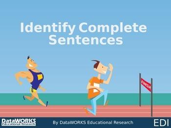 Identify Complete Sentences