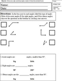 Identify & describe angles; Modified Curriculum; Special Ed inclusion, geometry