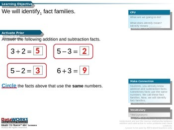 Identify fact families