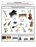 Identify instruments worksheet