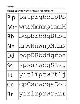Identify letters