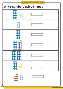 Identify numbers using pictorial representation