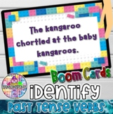 Identify past tense verbs | BOOM Cards