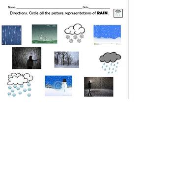 Identify rain and snow
