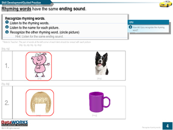 Recognize Rhyming Words - Short and Long Vowels