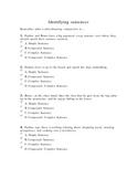 Identify sentence structure