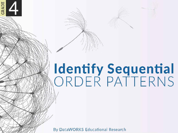 Identify sequential order patterns.