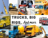Identify the Truck or Big Rig Boom Cards-No Reading Needed