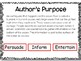 Identify the Author's Purpose: Digital Task Cards