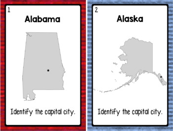 Identify the Capital City Task Cards