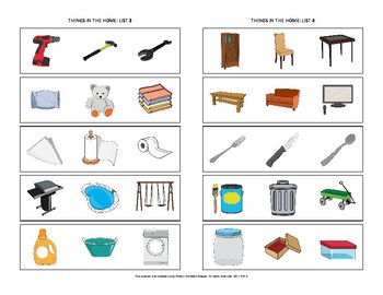 Identify the Category: Things in the Home