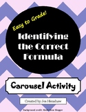 Identify the Correct Math Formula Review CAROUSEL ACTIVITY