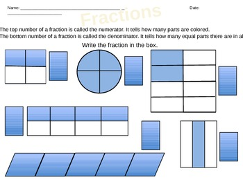 Identify the Fraction, Create the Fraction
