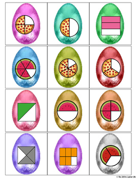 Easter Math Game - Identify the Fraction