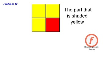 Identify the Fraction Smartboard Bingo CCSS 3.NF.1