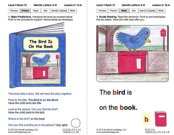 Identify the Letter B: Lesson 2, Book 15 (Newitt Decoding Series)
