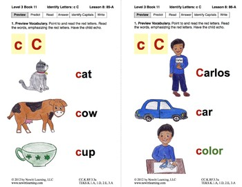 Identify the Letter C: Lesson 8, Book 11 (Newitt Decoding Series)