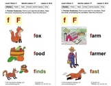 Identify the Letter F: Lesson 3, Book 11 (Newitt Decoding Series)