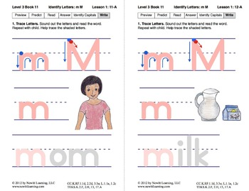 Identify the Letter M: Lesson 1, Book 11 (Newitt Decoding Series)