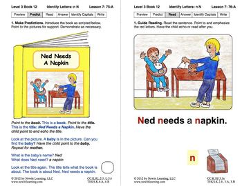 Identify the Letter N: Lesson 7, Book 12 (Newitt Decoding Series)