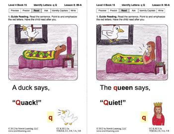 Identify the Letter Q: Lesson 8, Book 15 (Newitt Decoding Series)