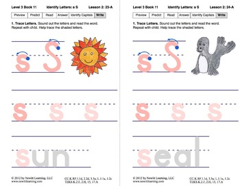Identify the Letter S: Lesson 2, Book 11 (Newitt Decoding Series)