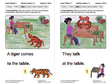 Identify the Letter T: Lesson 5, Book 11 (Newitt Decoding Series)
