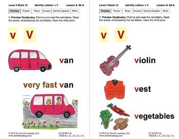 Identify the Letter V: Lesson 8, Book 12 (Newitt Decoding Series)