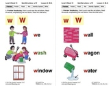 Identify the Letter W: Lesson 3, Book 15 (Newitt Decoding Series)