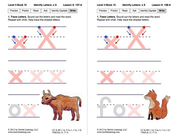 Identify the Letter X: Lesson 9, Book 15 (Newitt Decoding Series)