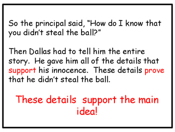 Identify the Main Idea and Supporting Details: Power Point