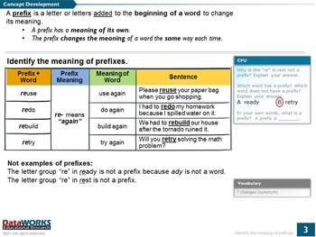 Identify the Meaning of Prefixes