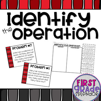 Identify the Operation - Addition or Subtraction
