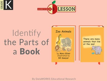 Identify the Parts of a Book