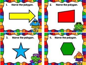 Identify the Polygon Task Cards-10 or Fewer Sides