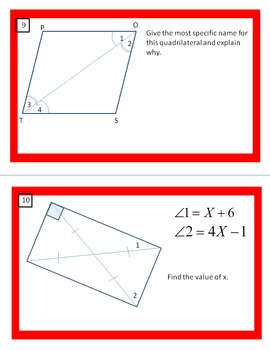Identify the Quadrilateral and Calculate the Missing Values