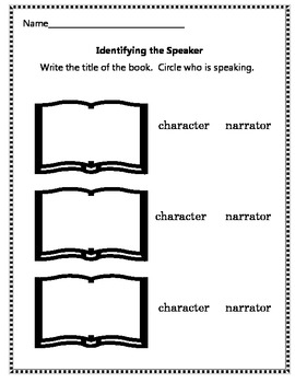 Identify the Speaker Worksheet