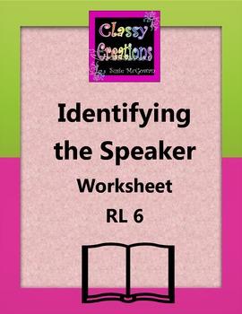 Identify the Speaker Worksheet