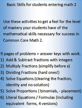 Enhance the basic skill level of your Common Core Math 2 S