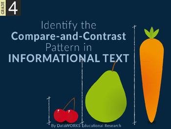 Identify the compare-and-contrast pattern in informational text