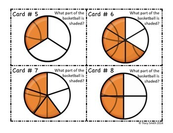 Fractions - Basketball SCOOT!  Grades 1-3