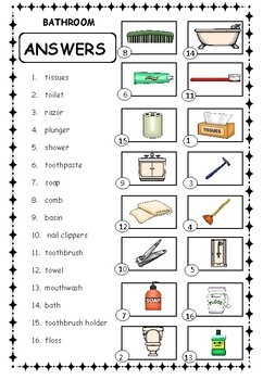 Identify the house items for ESL/ ELL /EAL / ELD / EFL