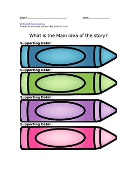Identify the main idea  : The DULL Crayon