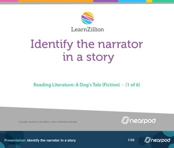 Identify the narrator in a story