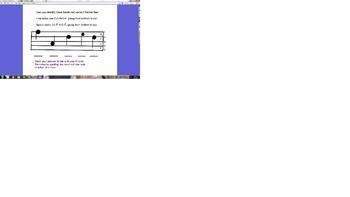 Identify treble clef notes flipchart- spell treble clef wo