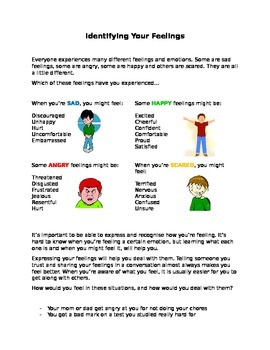 Feelings, Social skills, emotions, autism