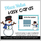 Identifying 2 Digit Numbers with Place Value Blocks Task Cards