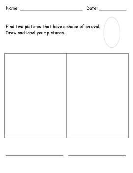 Identifying 2D Shape - Oval