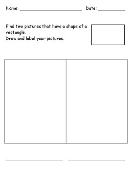 Identifying 2D Shape - Rectangle